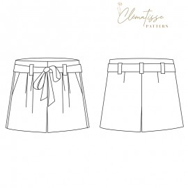 Shorts sewing pattern - Clématisse Pattern Iris