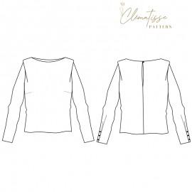 Patron Blouse Clématisse Pattern - Kim