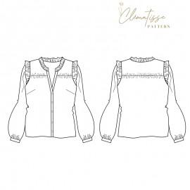 Blouse sewing pattern - Clématisse Pattern Kim