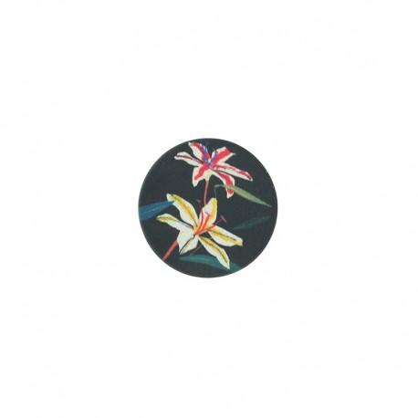 23 mm polyester button Amazonia - Acapulco