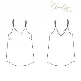 Top sewing pattern - Clématisse Pattern Easy'm