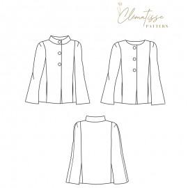 Cape sewing pattern - Clématisse Pattern Capucine