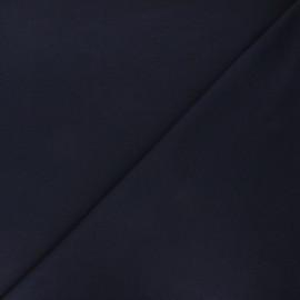 Tissu sweat léger Color - bleu nuit x 10cm