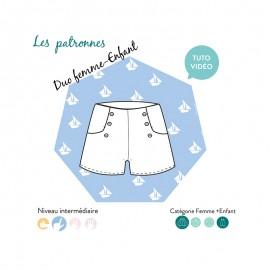 Patron Short Les Patronnes - Titouan