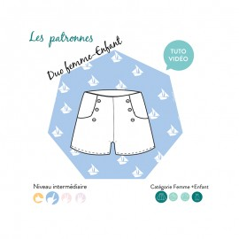 Shorts sewing pattern - Les Patronnes Titouan