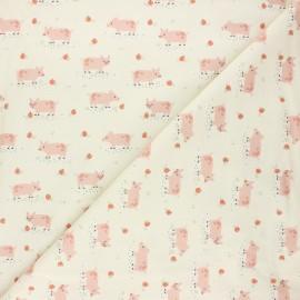 Tissu coton Dashwood Studio Farm days - Pigglet x 10cm