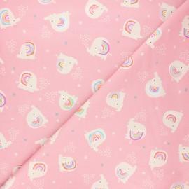 Cotton Dashwood Studio fabric - Elephant love Rainbow friends x 10cm