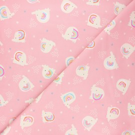 Tissu coton Dashwood Studio Rainbow friends - Elephant love x 10cm