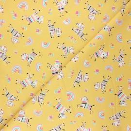 Cotton Dashwood Studio fabric - Zebra Rainbow friends x 10cm