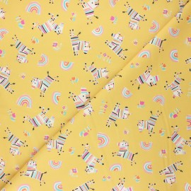 Tissu coton Dashwood Studio Rainbow friends - Zebra x 10cm