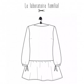 Sewing pattern Le laboratoire familial Blouse - Salomé