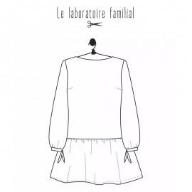 Patron Le laboratoire familial blouse - Salomé