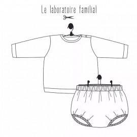 Baby clothing set sewing pattern Le laboratoire familial - Suzon & Achille