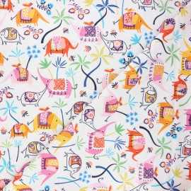 Cotton Dashwood Studio fabric - Elephant Silk roads x 10cm