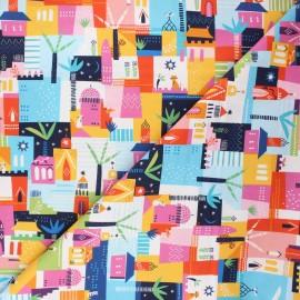 Cotton Dashwood Studio fabric - Las casas Silk roads x 10cm