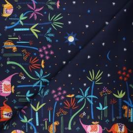 Tissu coton Dashwood Studio Silk roads - Elephant night x 10cm