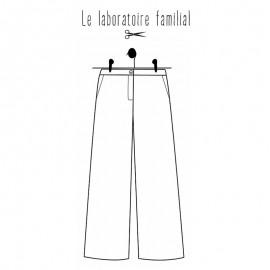 Pants sewing pattern Le laboratoire familial - Denise