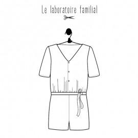 Patron combishort Le laboratoire familial - Bridget