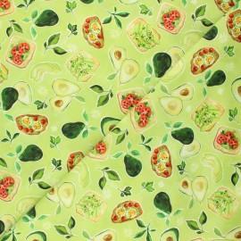 Dear Stella cotton fabric Chef's table - green Avocado toast x 10cm