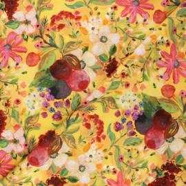 Dear Stella cotton fabric Chef's table - yellow New beginnings x 10cm