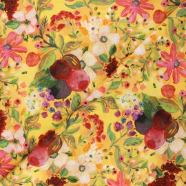 Tissu coton Dear Stella Chef's table - New beginnings - jaune x 10cm