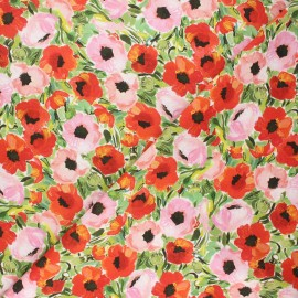 Dear Stella cotton fabric Chef's table - multicolor Poppy field x 10cm