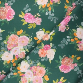 Dear Stella cotton fabric - green Orangerie x 10cm