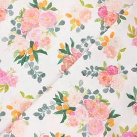 Dear Stella cotton fabric - white Orangerie x 10cm