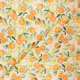 Tissu coton Dear Stella Orangerie - Oranges - rose pâle x 10cm