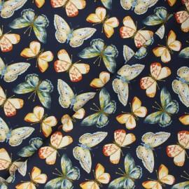 Tissu coton Dear Stella Meant to bee - Butterflies - bleu nuit x 10cm