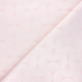 Tissu jacquard Freda - rose clair x 10cm