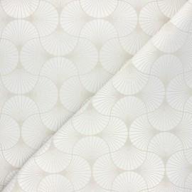 Tissu jacquard Freda - beige x 10cm