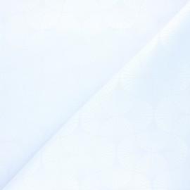 Tissu jacquard Freda - craie x 10cm