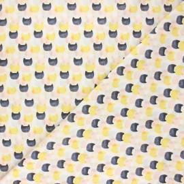 Tissu coton Dear Stella Meant to bee - Cat mirage - blanc x 10cm