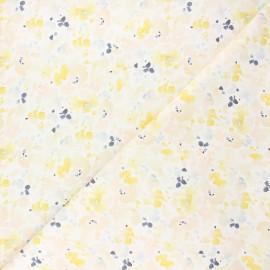 Tissu coton Dear Stella Meant to bee - Abstract wash - blanc x 10cm