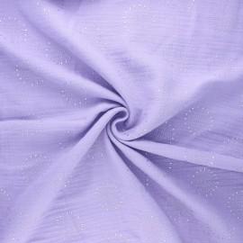 Tissu double gaze de coton Fireworks - rose orchidée x 10cm