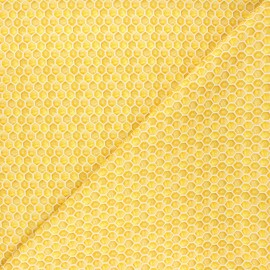 Dear Stella cotton fabric Meant to bee - yellow Honey comb x 10cm