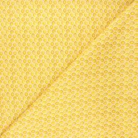 Tissu coton Dear Stella Meant to bee - Honey comb - jaune x 10cm