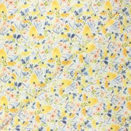 Tissu coton Dear Stella Meant to bee - Beehive garden - blanc x 10cm
