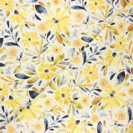 Tissu coton Dear Stella Meant to bee - Meant to bee - blanc x 10cm
