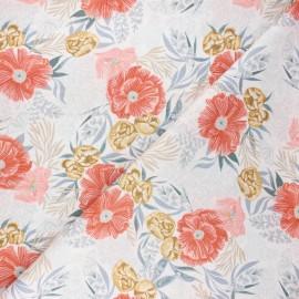 Dear Stella cotton fabric Poppy prairie - white Poppies x 10cm