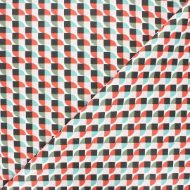 Cretonne cotton fabric - multicolor Grafiko x 10cm