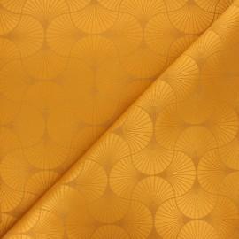 Tissu jacquard Freda - ocre x 10cm