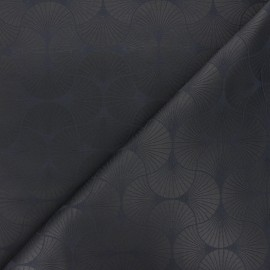 Tissu jacquard Freda - gris anthracite x 10cm