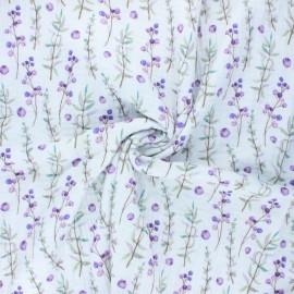 Tissu double gaze de coton Baies d'été - blanc cassé x 10cm
