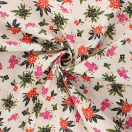 Tissu popeline de coton AGF Open heart - Cherished gatherings - beige rosé x 10cm