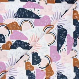 Tissu coton Cotton Steel Dear Isla - Hilltop - parme x 10cm