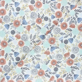 Summer in the Cotswolds cotton fabric - white English garden x 10 cm