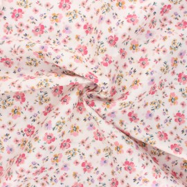 Atelier 27 satin cotton fabric - multicolor Lucile x 10 cm