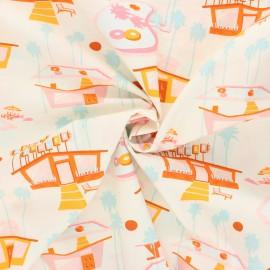 AGF poplin cotton fabric - Sunburst - pink Hello summer x 10cm